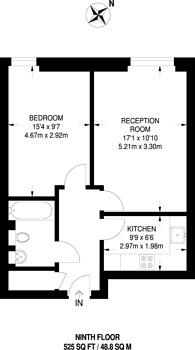 Large floorplan for Antonine Heights, Bermondsey, SE1