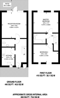 Large floorplan for Downham Road, Islington, N1