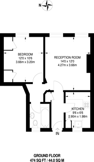 Large floorplan for Wharton Street, Islington, WC1X