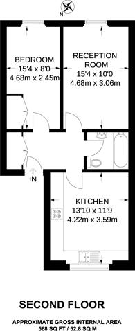 Large floorplan for Queens Gardens, Bayswater, W2