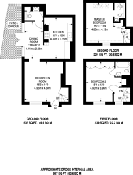 Large floorplan for Holly Hill, Hampstead, NW3