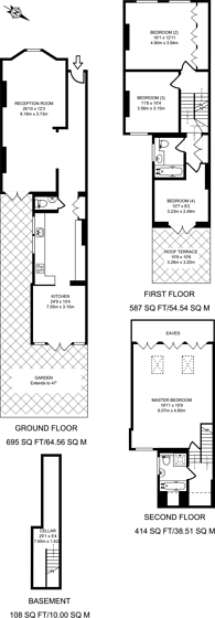 Large floorplan for Gladstone Road, Wimbledon, SW19