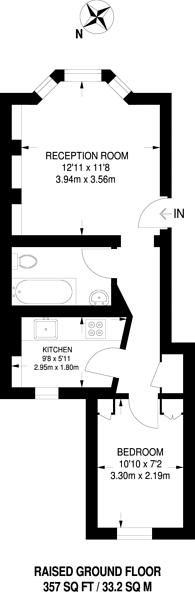 Large floorplan for Bellefields Road, Brixton, SW9