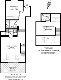 Large floorplan for Richards Place, Chelsea, SW3