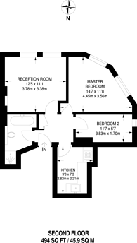 Large floorplan for Willesden Lane, Kilburn, NW6