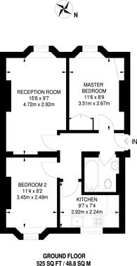 Large floorplan for Wells Street, Fitzrovia, W1T