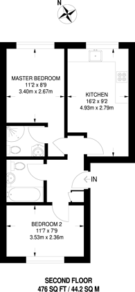 Large floorplan for Gloucester Terrace, Paddington, W2