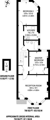 Large floorplan for Bathurst Gardens, Kensal Green, NW10