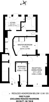 Large floorplan for Alexandra Avenue, Rayners Lane, HA2