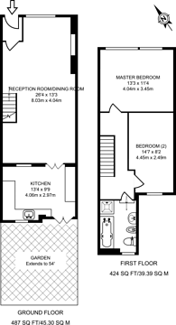 Large floorplan for Osbourne Road, Thornton Heath, CR7