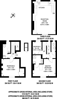 Large floorplan for Sydney Street, Chelsea, SW3