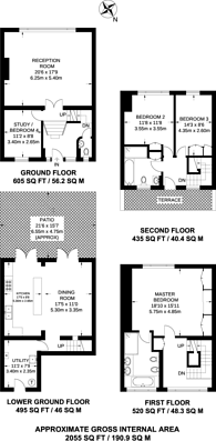 Large floorplan for Lansdowne Crescent, Notting Hill, W11