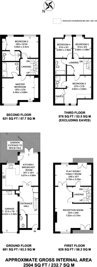 Large floorplan for Kelsall Mews, Richmond, Surrey, Kew, TW9