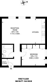 Large floorplan for Maresfield Gardens, Hampstead, NW3