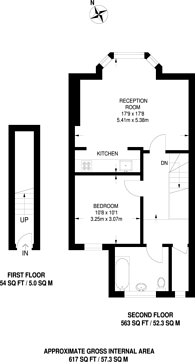 Large floorplan for Finchley Road, Golders Green, NW11