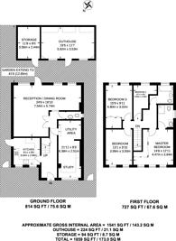 Large floorplan for Uxbridge Road, Harrow, HA3