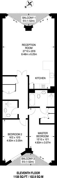 Large floorplan for Nine Elms, Nine Elms, SW8