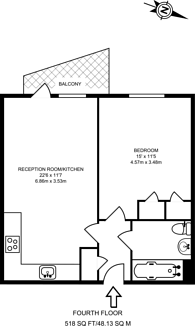 Large floorplan for Chris Pullen Way, Holloway, N7