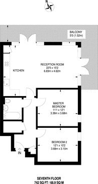 Large floorplan for Grand Union Heights, Alperton, HA0
