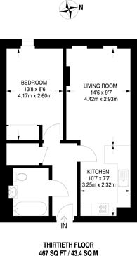 Large floorplan for Saffron Tower, Croydon, CR0