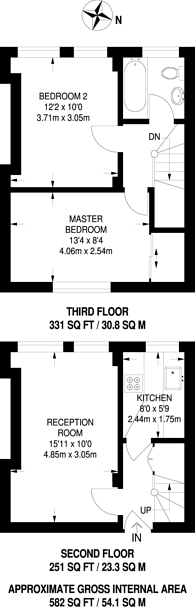 Large floorplan for Brixton Hill Court, Brixton Hill, SW2