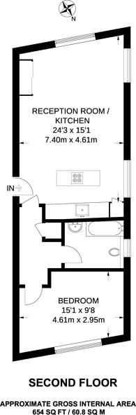 Large floorplan for Latimer Road, North Kensington, W10