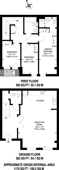 Large floorplan for Dowells Street, Greenwich, SE10