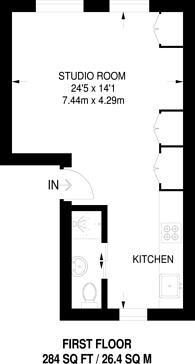 Large floorplan for Caledonian Road, King's Cross, N1