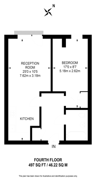 Large floorplan for Grosvenor Waterside, Pimlico, SW1W