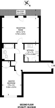 Large floorplan for Brookmill Road, Deptford, SE8