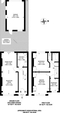 Large floorplan for Streatham Road, Tooting, CR4