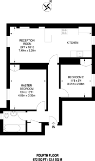 Large floorplan for Herbrand Street, Bloomsbury, WC1N