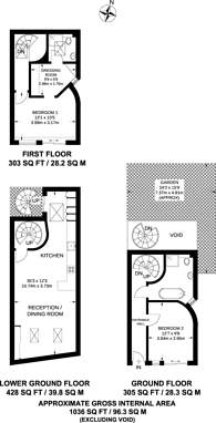 Large floorplan for Sumatra Road, West Hampstead, NW6