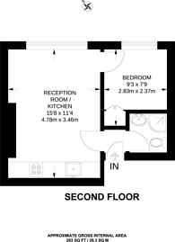 Large floorplan for Cardigan Road, Richmond, Richmond Hill, TW10