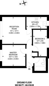 Large floorplan for Caraway Close, Plaistow, E13
