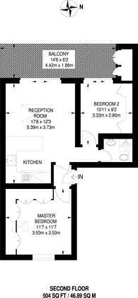 Large floorplan for Ritherdon Road, Balham, SW17