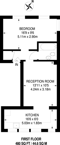 Large floorplan for Moray Road, Finsbury Park, N4