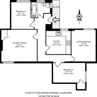 Large floorplan for Emlyn Gardens, Wendell Park, W12