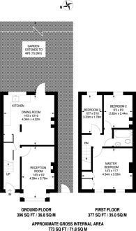 Large floorplan for Mitcham Road, Mitcham, CR0