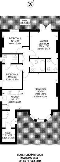 Large floorplan for Cavendish Road, Brondesbury, NW6
