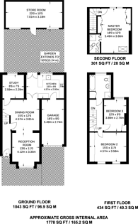 Large floorplan for Clarendon Road, Colliers Wood, SW19