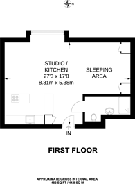 Large floorplan for Great West Road, Stamford Brook, W6