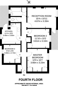 Large floorplan for Boundary Road, St John's Wood, NW8