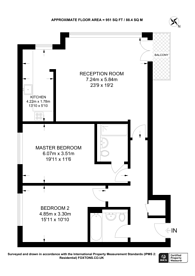 Large floorplan for Cumberland House, Woolwich, SE28