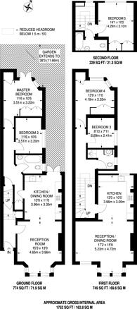 Large floorplan for Kempe Road, Kensal Rise, NW6