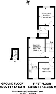 Large floorplan for West Green Road, Tottenham, N15