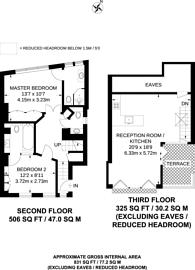 Large floorplan for Bisham Gardens, Highgate, N6