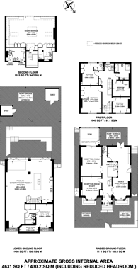 Large floorplan for Huddleston Road, Tufnell Park, N7