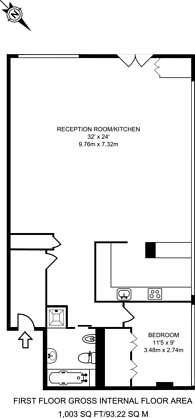 Large floorplan for Royle Building, Islington, N1