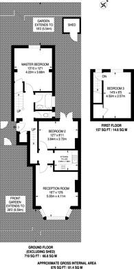 Large floorplan for Birchanger Road, South Norwood, SE25